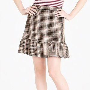 JCrew Factory Houndstooth Flounce Mini Skirt - NWT